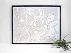 Handcut Paper Map of Copenhagen from Vellum and Trace - 460 DKK - Etsy | Scandinavia Standard