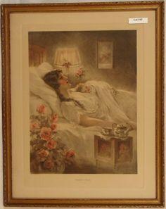 "Bessie Pease Gutmann, Illustrator, ""Heart's Ease"",circa 1921, rare."