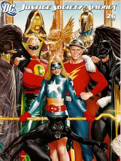 Comics and nothin' but — JSA cover by Alex Ross Marvel Comics, Hq Marvel, Arte Dc Comics, Alex Ross, Comic Book Characters, Comic Book Heroes, Comic Character, Comic Book Artists, Comic Books Art