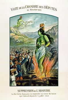 Swiss poster for the suppression of absinthe.  From the Virtual Absinthe Museum
