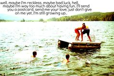 """""""Reckless (Still Growing Up)"""" -Kip Moore Cannot wait to see him at whiskey wild on the 4th!!"""