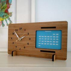 Laser cut bamboo clock