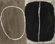 William Scott, Black and White, 1961, Gouache on paper, Irish Museum of Modern Art, 49.9 x 62.2 cm / 19½ x 24 in