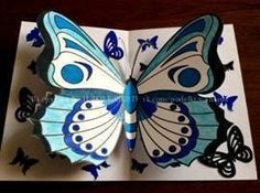 ОТКРЫТКА С БАБОЧКОЙ Diy Crafts To Do, Easy Paper Crafts, Crafts For Kids, Arts And Crafts, Butterfly Template, Butterfly Crafts, Butterfly Art, Summer Art Projects, Watercolor Projects
