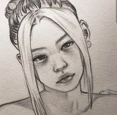 Girl Drawing Sketches, Girly Drawings, Kpop Drawings, Dark Art Drawings, Art Drawings Sketches Simple, Pencil Art Drawings, Realistic Drawings, Horse Drawings, Drawing Art
