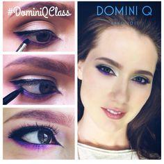 Продолжаем урок макияжа глаз. #dominiqclass Правильный оттенок фиолетового идет всем! Карие глаза он заставляет сиять особенно красиво // Визажист @annabednarskaya модель @mariya_shirshova // #esum #стрелки #cateyes #фиолетовый #урокимакияжа #dominiqbeauty #dominiq #beautyhub #beautylounge