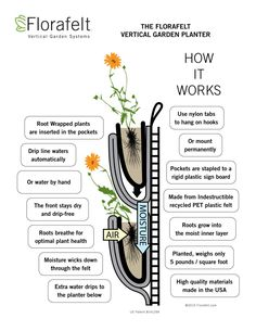 Hydroponic Gardening Florafelt Vertical Garden Planter How It Works - Our Florafelt vertical garden guide gives you an overview of how to design and build your own living wall.