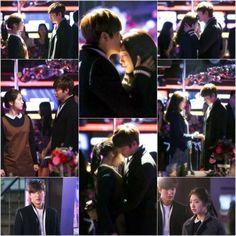 [Spoiler] Lee Min Ho gives Park Shin Hye a forehead kiss on 'Heirs' | allkpop.com
