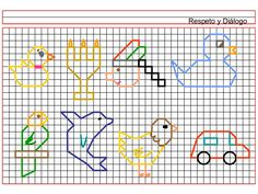 Dibujos en cuadriculas c02 (1) Graph Paper Drawings, Graph Paper Art, Back Stitch, Cross Stitch, Blackwork, Symmetry Worksheets, Therapy Activities, Love Painting, Pictures To Draw