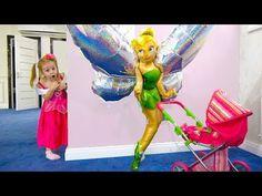 Игрушки у Настюшки и новый необычный друг Pretend play with giant toys for kids - YouTube