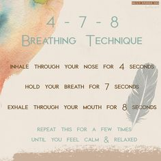 Breathing Techniques, Self Care, Breathe, Hold On, How Are You Feeling, Mindfulness, Calm, Feelings, Heart