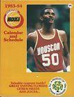 For Sale - 1983 - 1984 HOUSTON ROCKETS NBA CALENDAR AND SCHEDULE RALPH SAMPSON