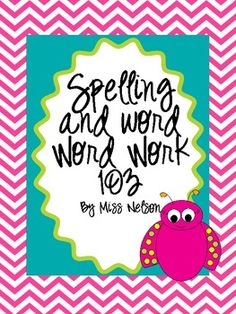 Spelling activities and word wall activities. Hang man, dictionary dig, graph it and more