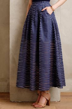Pacific Waves Maxi Skirt
