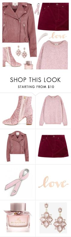 """Wear Pink for Love"" by shoelover220 ❤ liked on Polyvore featuring Polly Plume, Acne Studios, River Island, Marc Jacobs, Bling Jewelry, Primitives By Kathy, Burberry, Express, Kevyn Aucoin and Pink"