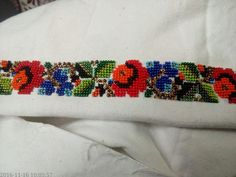 Embroidery Fashion, Beaded Embroidery, Embroidery Stitches, Craft Accessories, Bead Loom Patterns, Loom Beading, Diy Projects To Try, Veronica, Cross Stitch