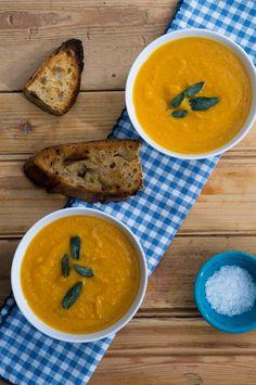 Het eerste deel (oven) vh recept uitvoeren daarna het andere recept volgen! Roasted Butternut Soup - heinstirred