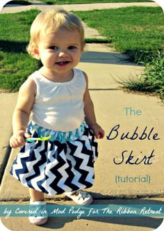 Bubble Skirt Tutorial - {The Ribbon Retreat Blog} Do not like the Chevron but would be cute in another fabric.