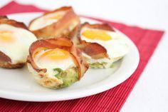 Bacon Avocado Egg Cups    So good!