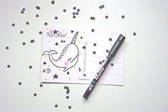 More on 365postcardsproject.tumblr.com  #365postcards #365projectlife #365 #godsavetheteatime #narwhal #illustration