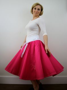A personal favourite from my Etsy shop https://www.etsy.com/listing/497569082/tulip-embroidered-midi-skirt-women-skirt