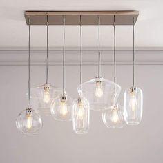 west elm Sculptural Glass 7-Light Multi Chandelier - Clear (47 )