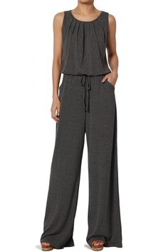 Free 2-day shipping. Buy TheMogan Women's PLUS Casual Sleeveless Loose Wide Leg Pants Jumpsuit Lounge Jumper at Walmart.com Pant Romper Outfit, Jumper Outfit, Pant Jumpsuit, Jumper Pants, Mother Of The Bride Suits, Fall Pants, Stitch Fix Outfits, Jumpers For Women, Comfortable Outfits