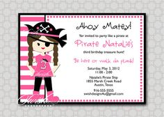girly pirate bday party - Google Search