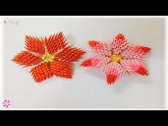 3d origami - flower - YouTube