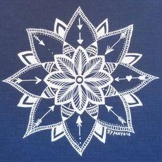 #mayoasha #pentekening #mandala #zentangle #doodle #witopblauw #kaartje