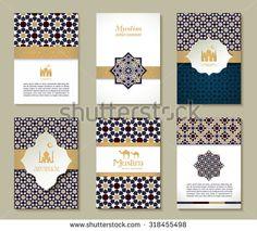 Banners set of ethnic design. Religion abstract set of layout with ornament. vektor sanat, klipart ve stok vektör çizimleri. Eid Hampers, Eid Card Designs, Eid Stickers, Eid Crafts, Folk Art Flowers, Islamic Art Pattern, Family Christmas Cards, Creative Poster Design, Islamic Art Calligraphy