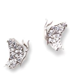 J. Herwitt - Small Butterfly Earrings ($1,500) ❤ liked on Polyvore featuring jewelry, earrings, accessories, gioielli, earring jewelry, butterfly jewelry, monarch butterfly earrings, 14 karat white gold earrings and 14 karat gold jewelry