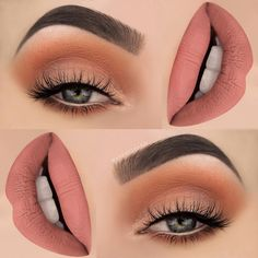 """1,682 Likes, 31 Comments - M A K E U P T H A N G (@makeupthang) on Instagram: """"Orange soda and a touch of peach, perfect fresh look for spring Products used: BROWS:…"""""""