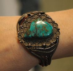 Lovely old pawn hallmarked Navajo Stormy Mountain by navajodreams