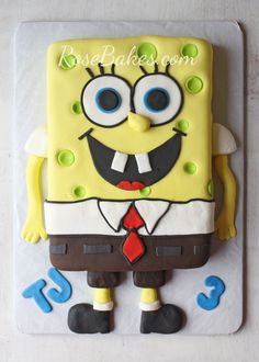 SpongeBob Cake and Smash Cake