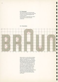 Braun Corporate Manual, Designed by Wolfgang Schmittel, 1958