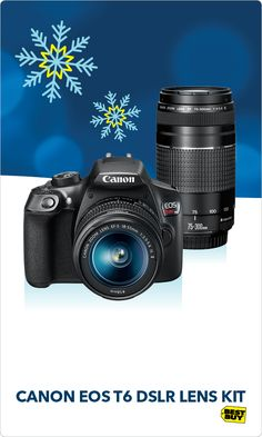 Take your photos beyond the constraints of a smartphone with the Canon EOS Rebel T6 camera. This 18 Megapixel camera makes it easy to capture holiday memories with your magic touch through fun creative filters. The EOS Rebel T6 delivers big time clarity even in low light, so you won't miss a memory. Easily record 1080p HD videos and now thanks to built-in Wi-Fi and NFC, you can share photos and videos instantly. Visit the Camera Experience Shop at Best Buy today.