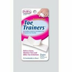 Toe Trainers (Pack of 2) by Foot Care. $5.19. Eases pain by straightening and separating crooked overlapping or hammer toes. Splint Adjacent Toes. 2/Pkg. Soft cotton-covered splints cushion and protect toes from rubbing. One Size Fits All. Great for broken or stubbed toes Velcro fasteners adjust for a comfortable fit Minimal space in shoes is required Trimmable Shipping Carton Size: 8 L x 6 W x 4 H