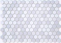 Lyric 1 x 1 Glazed Porcelain Mosaic Hex Tile in Slide Gray