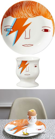 Our favourite Bowie themed products. Ziggy Stardust, T Art, Sharpies, Paperchase, Weird And Wonderful, David Bowie, Soft Furnishings, Pottery Art, Cookware