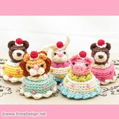 amigurumi rings! from ennadesign on etsy-check out her shop!! cute overload!