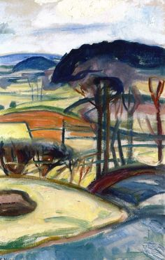 Edvard Munch,  March, 1919 #painting