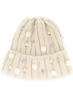 6d93f0b98b8 Shop Ca4la embellished beanie hat Caps For Women