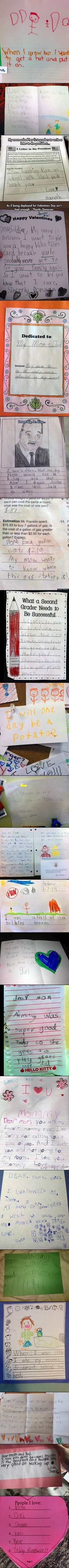 kid's letters! :) I laughed out loud at more than a few of these