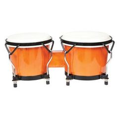 The Endeavor Series Bongo Drums are a great choice for entry level players offering a modern punch of color in a traditional bongo design. The wooden shells have goatskin drum heads and tunable black