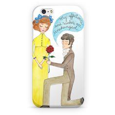 Unchanged affections - capa de celular Sementinhas Cor-de-Rosa por Carol Dib na Colab55! #janeausten #orgulhoepreconceito