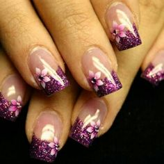 Tumblr purple nails, purple nails