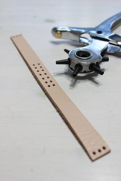 Diy leather bracelet from a belt