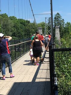World in Pictures by Isabelle: Walking the bridge over Montmorency Falls