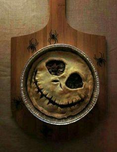 Halloween jack skellington pie